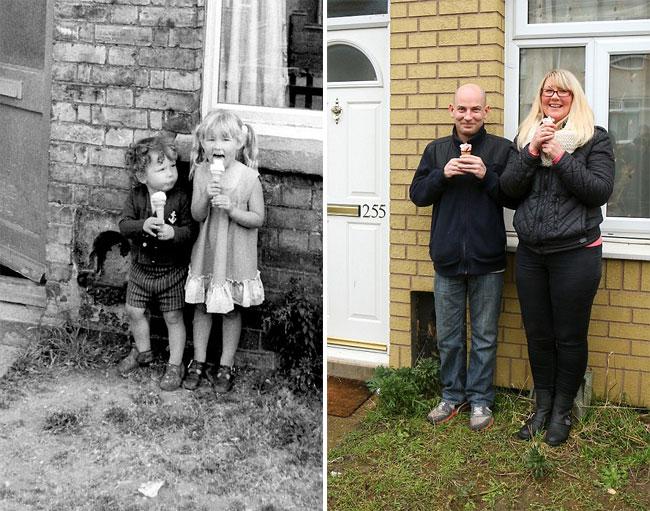 30 лет спустя фотограф воссоздал старые портреты