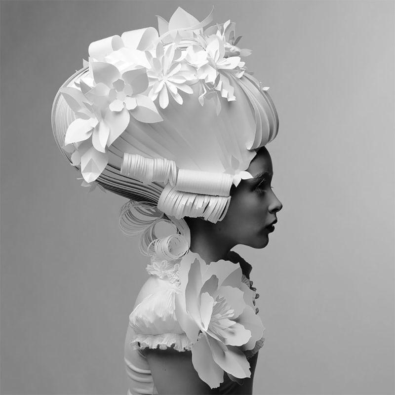 Бумажные парики и наряды от Аси Козиной