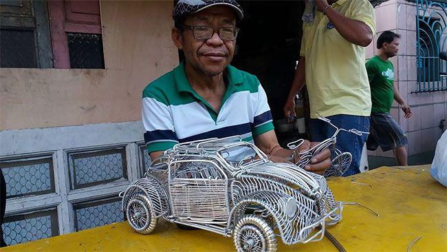 Удивительные модели транспортных средств из проволоки