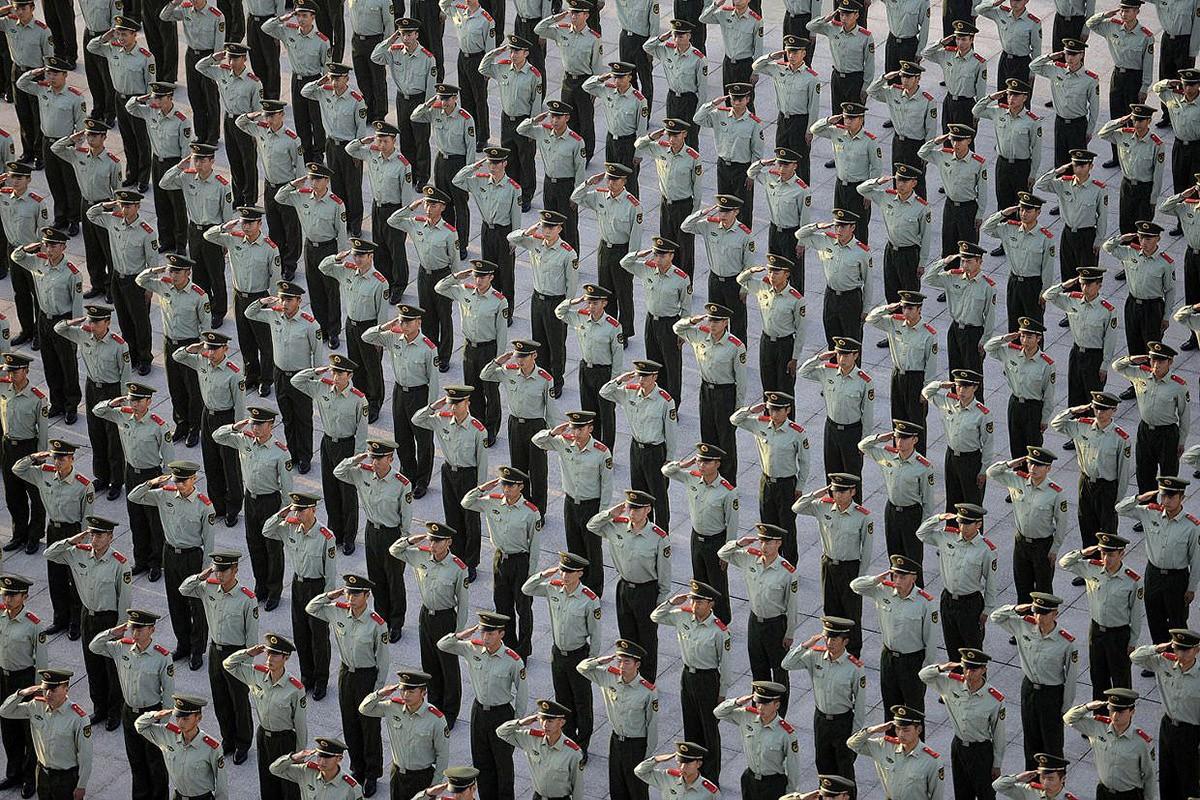 Завораживающее китайское искусство толпы