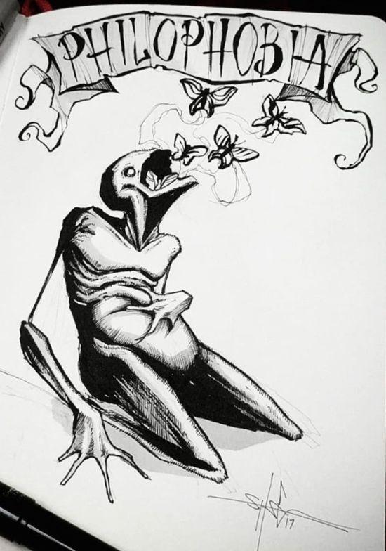 Человеческие фобии в рисунках Шона Косса