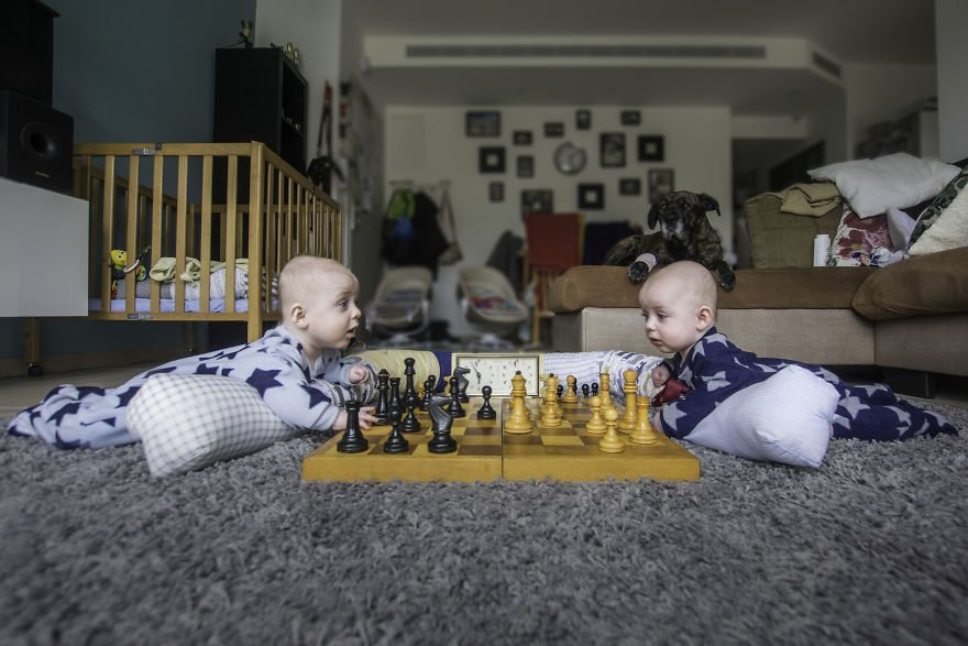 Когда в семье фотографа рождаются близнецы