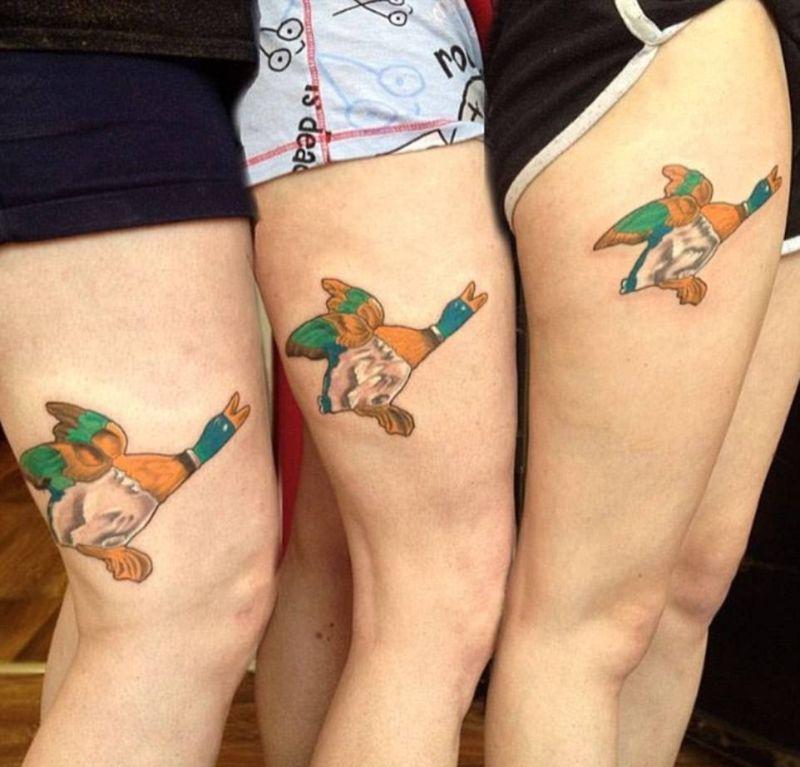 Групповые татуировки настоящих друзей