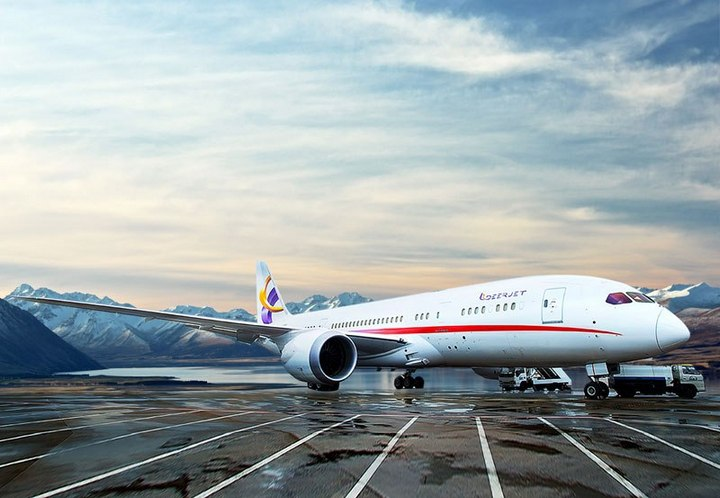Роскошный интерьер самолета Boeing 787-8 Dreamliner