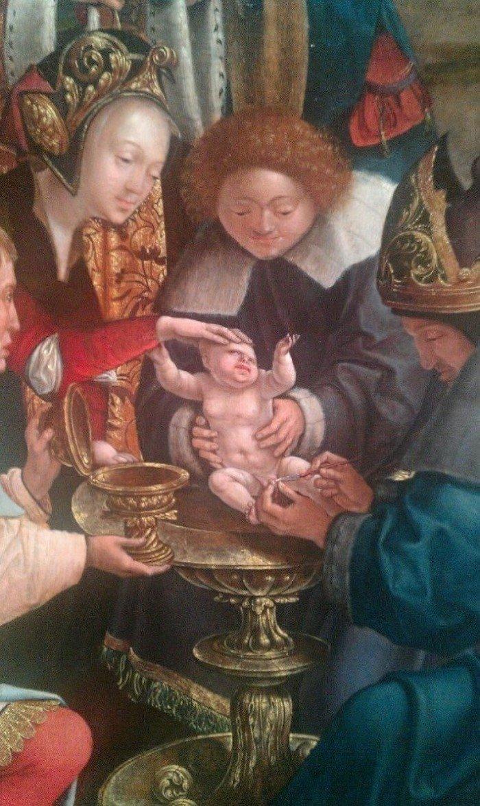 Уродливые младенцы на картинах эпохи Возрождения и подписи к ним