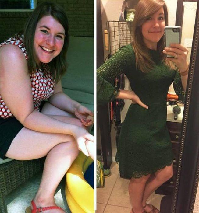 Преображение людей, поборовших лишние килограммы