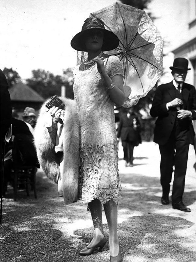 Фотографии женской уличной моды столетней давности