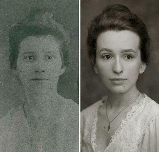 Попытки повторить фото родственников из семейных альбомов