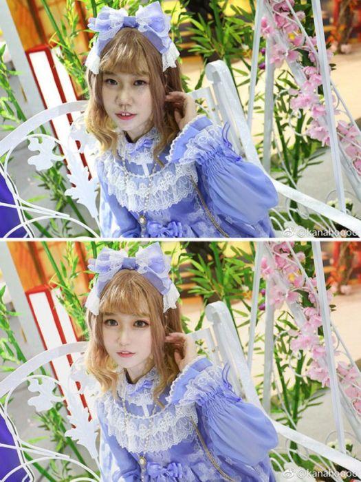 Фотографии девушек из соцсетей: до и после обработки