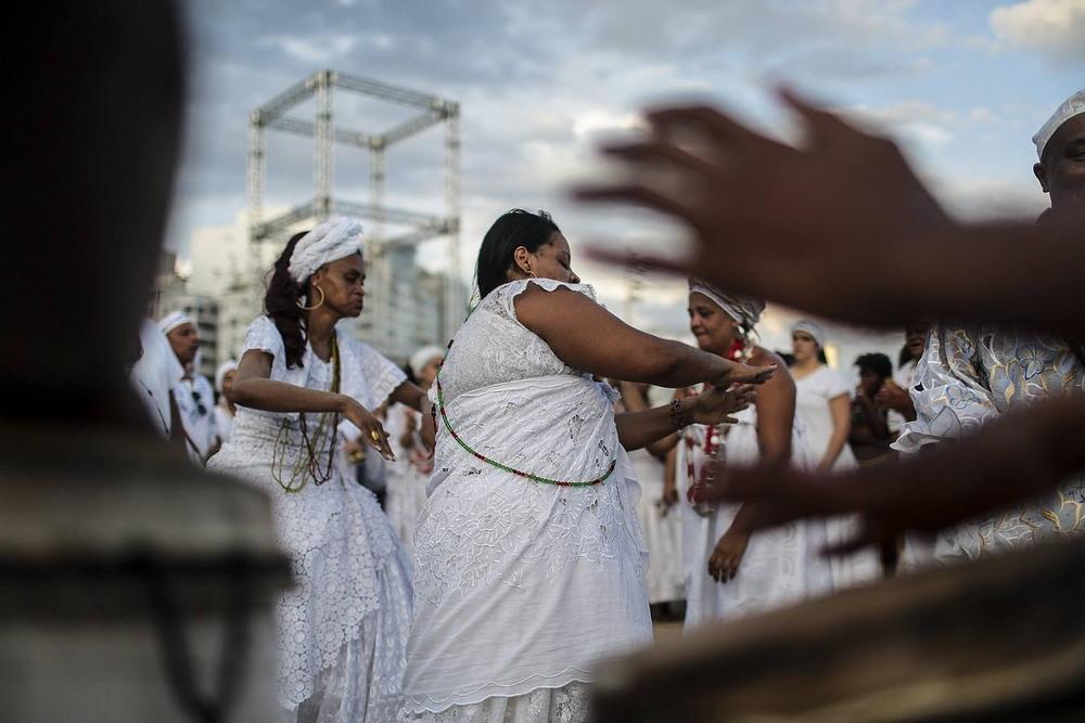 Чествование богини моря в Бразилии