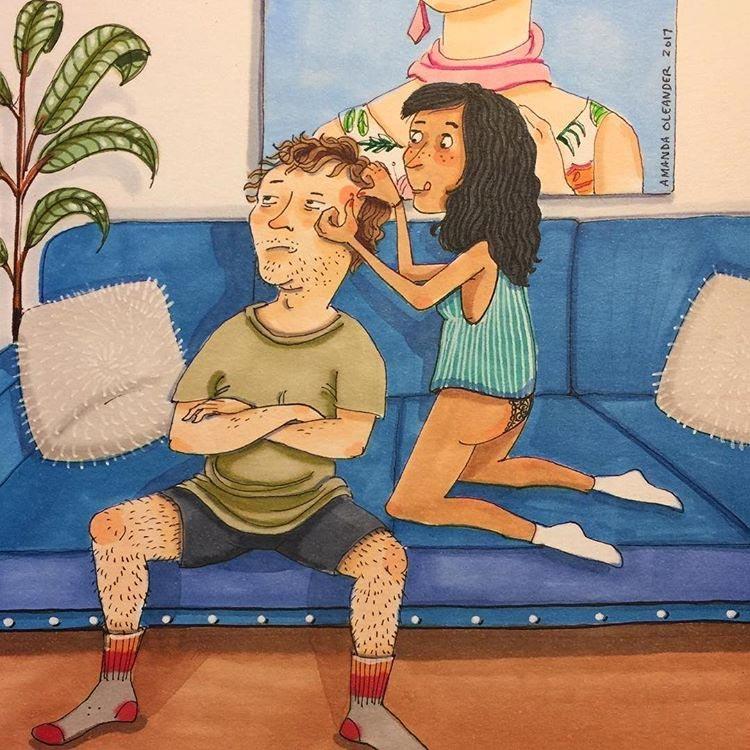 Душевные рисунки о любви и отношениях, когда никто не видит