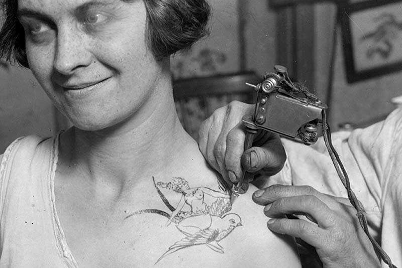 Портреты татуированных женщин прошлого