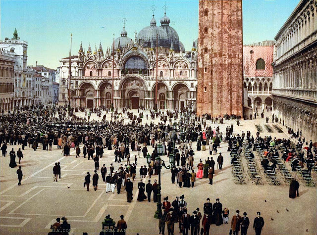 Цветные фотографии Венеции в 1890-е годы
