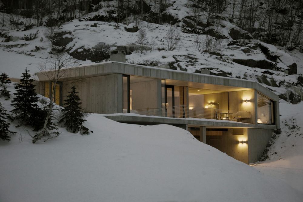 Брутальный особняк на горнолыжном курорте в Норвегии