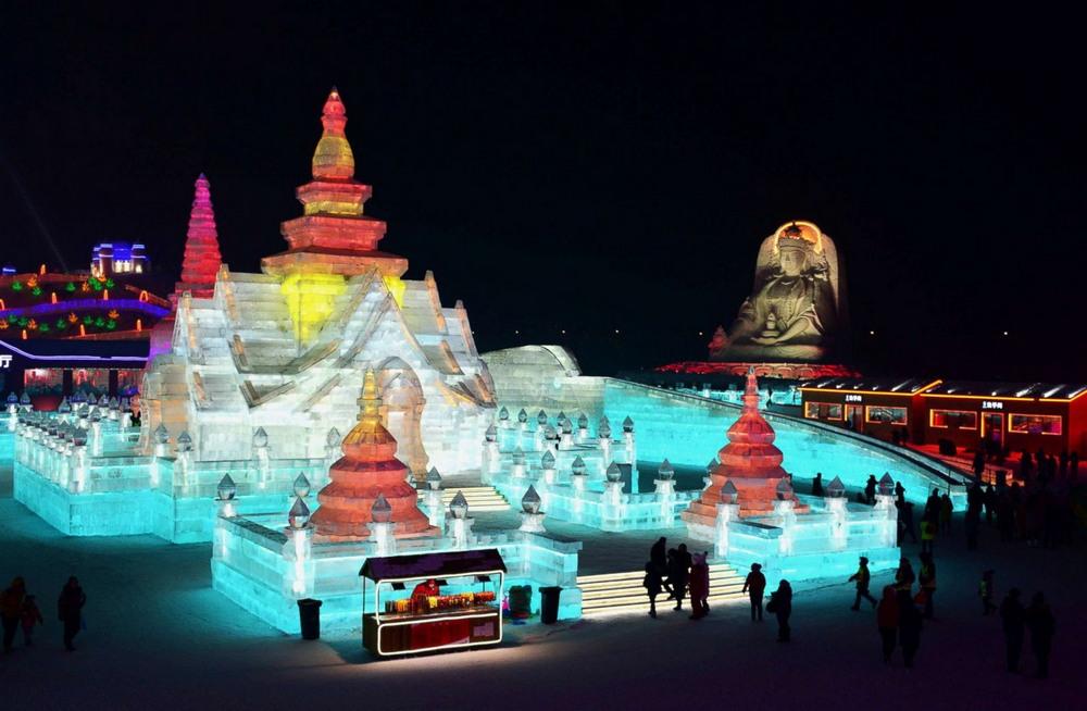 Международный фестиваль льда и снега в Харбине 2018