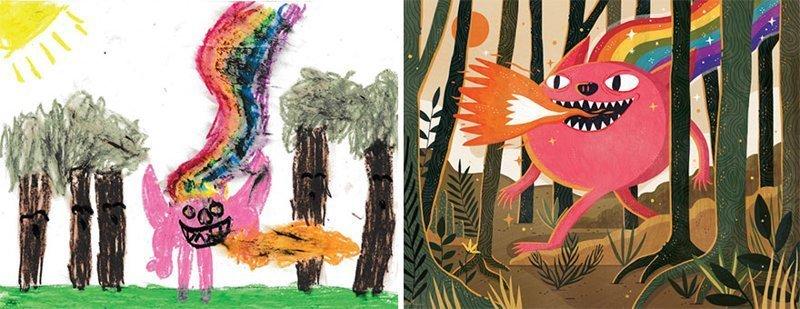 Монстры из детских рисунков