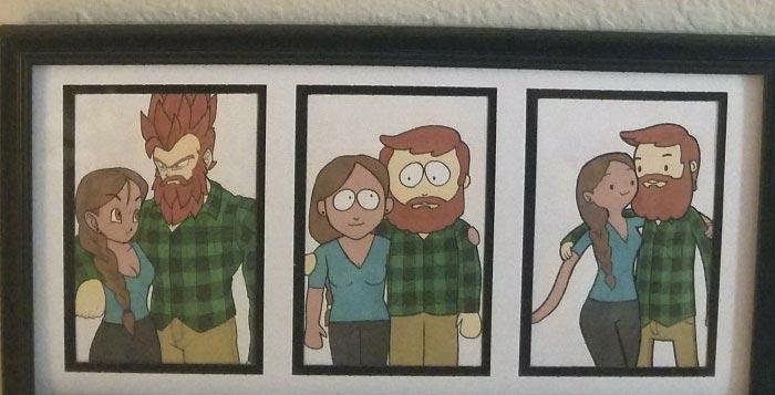 Парень нарисовал свою девушку в стиле 10 знаменитых мультфильмов