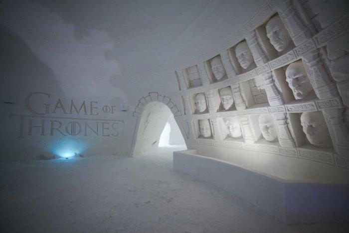 В Финляндии появился ледяной отель по мотивам сериала Игра престолов