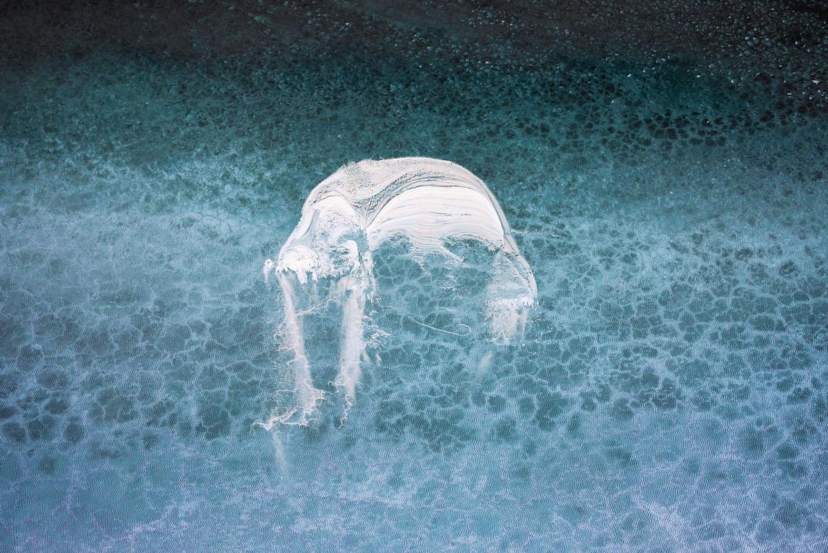 Живописные потоки озера Эйр с воздуха