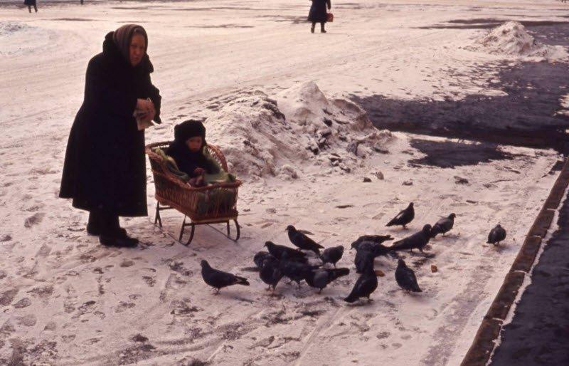 Зимние каникулы на санках в СССР