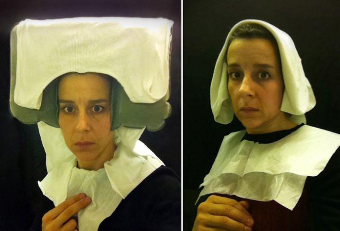 Забавные селфи в стиле портретов XV века