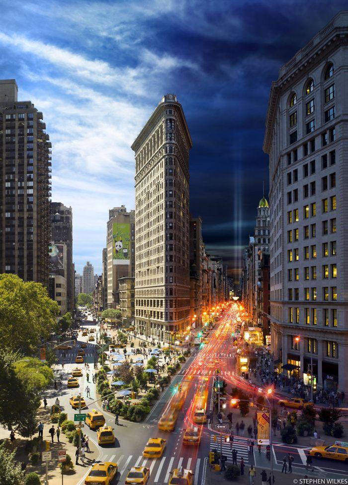 Днем и ночью на одном фото от Стивена Уилкса