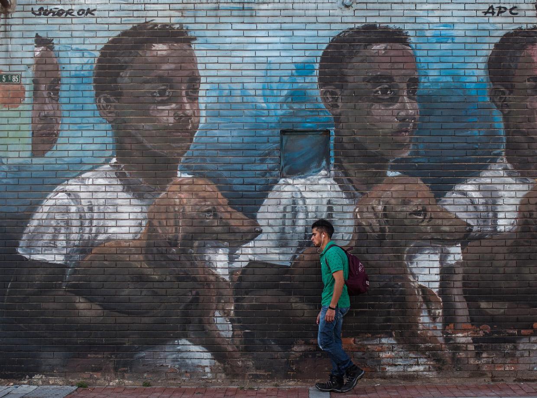 Стрит-арт на улицах в Колумбии