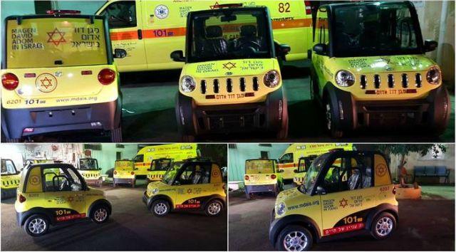 Компактный транспорт израильских парамедиков