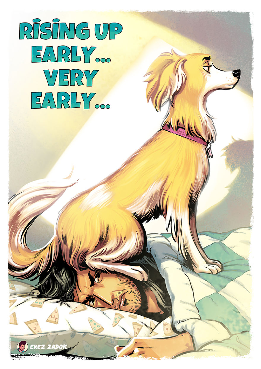 20 ситуаций с хозяином невоспитанной собаки в иллюстрациях