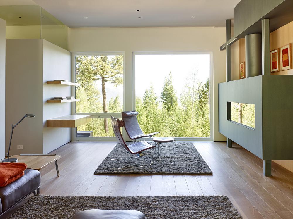 Резиденция из камня и дерева в США