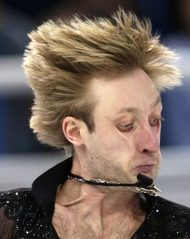 Гримасы фигуристов во время выступления на Олимпиаде
