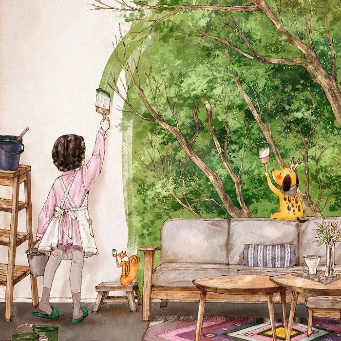 Простые радости в иллюстрациях корейской художницы Aeppol