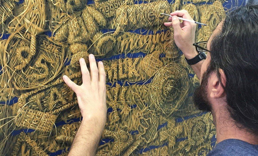 Удивительные плетёные картины от Алекси Торреса