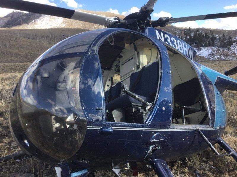 Вертолет рухнул из-за лося, зацепившегося рогами за хвостовой винт