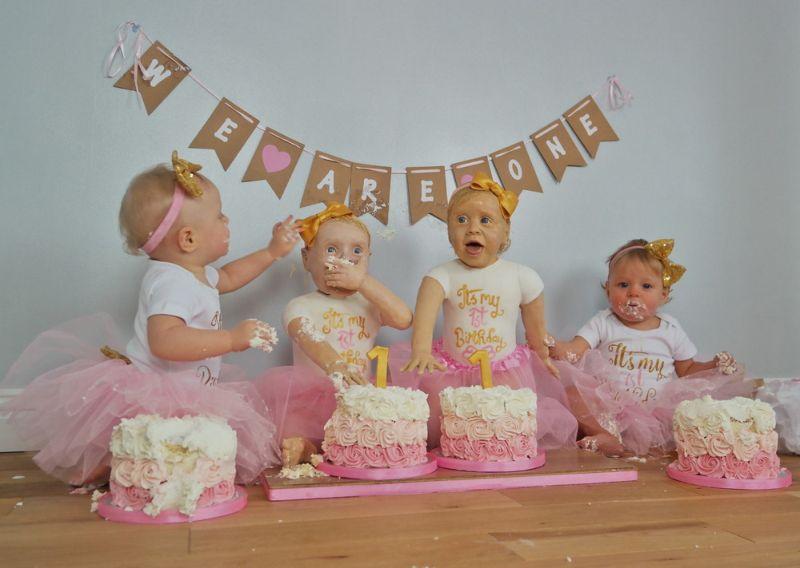 Британка испекла торты в виде дочерей-двойняшек