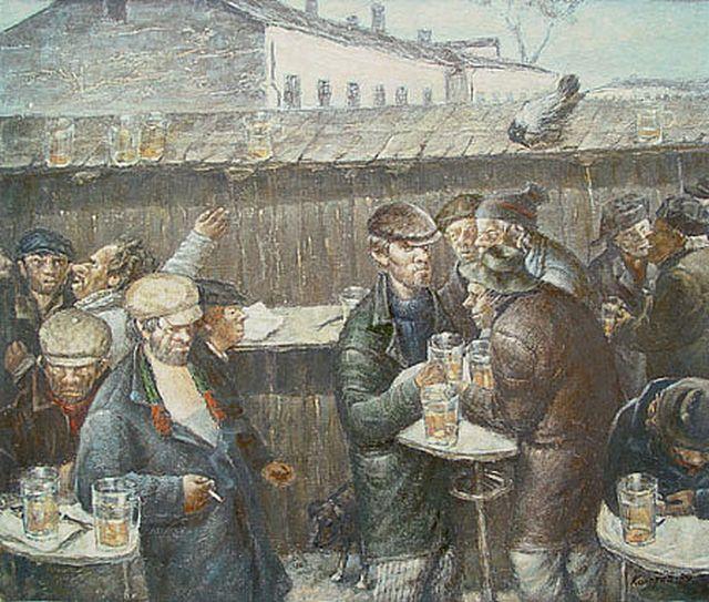 Советский быт глазами художника Василия Колотева