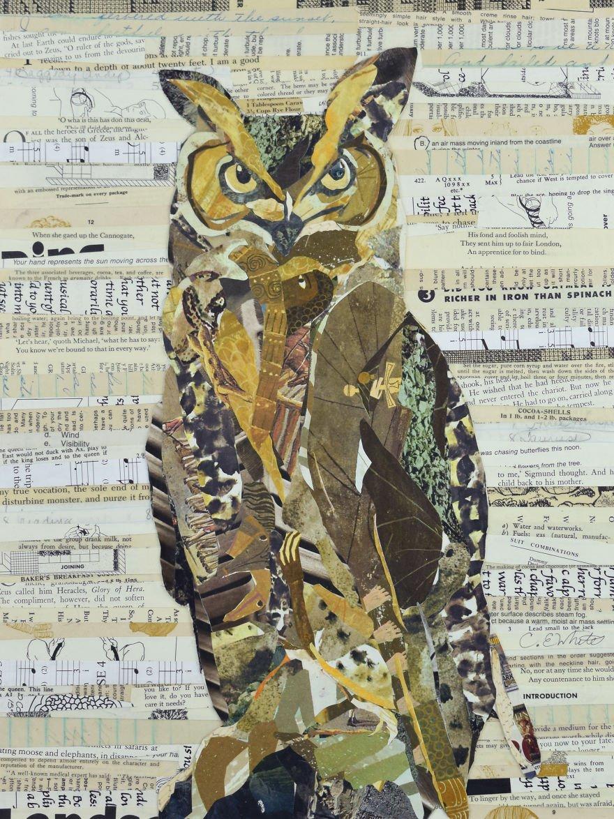 Аппликации из бумаги с дикими животными
