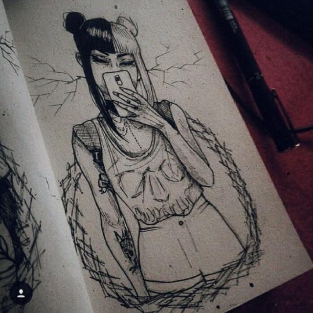 Художница рисует реалистичные портреты героинь популярных мультфильмов