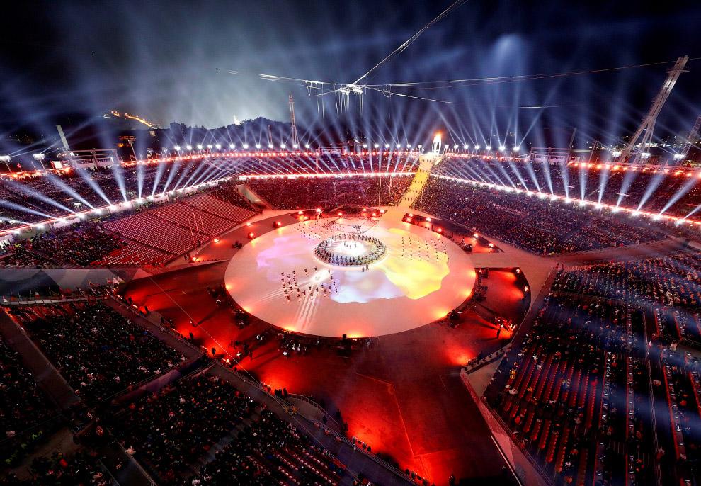 Закрытие Олимпиады в Пхенчхане