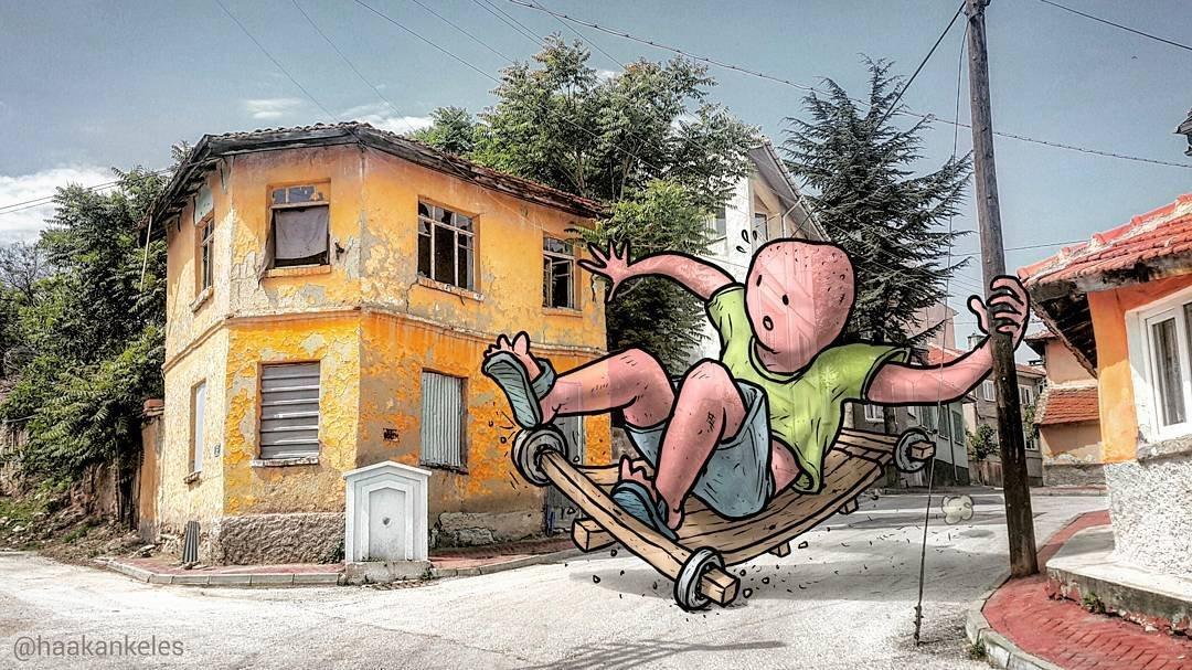 Жизнь гигантов на улицах турецких городов