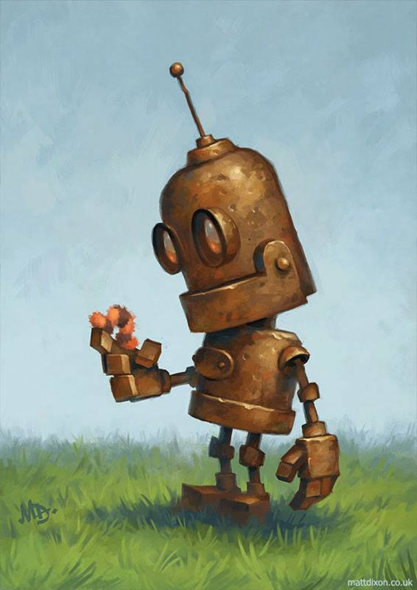 Для, рисунки прикольных роботов