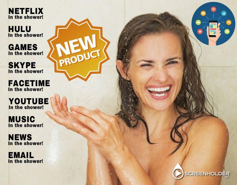Занавеска для любителей принимать душ с гаджетами