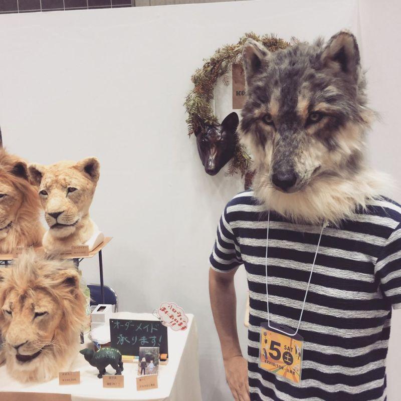 Реалистичные морды животных, которые можно носить на голове