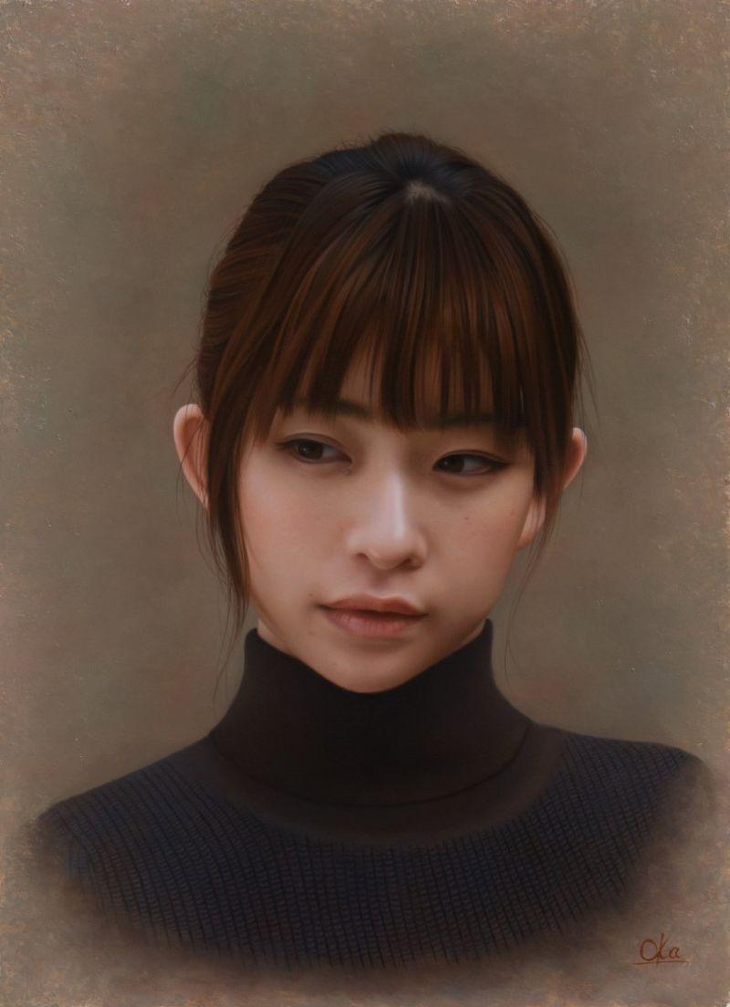 Реалистичные портреты девушек маслом