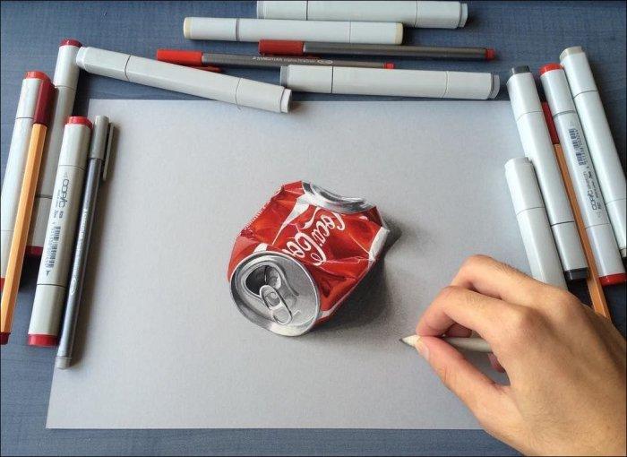Невероятно реалистичные рисунки одного парня