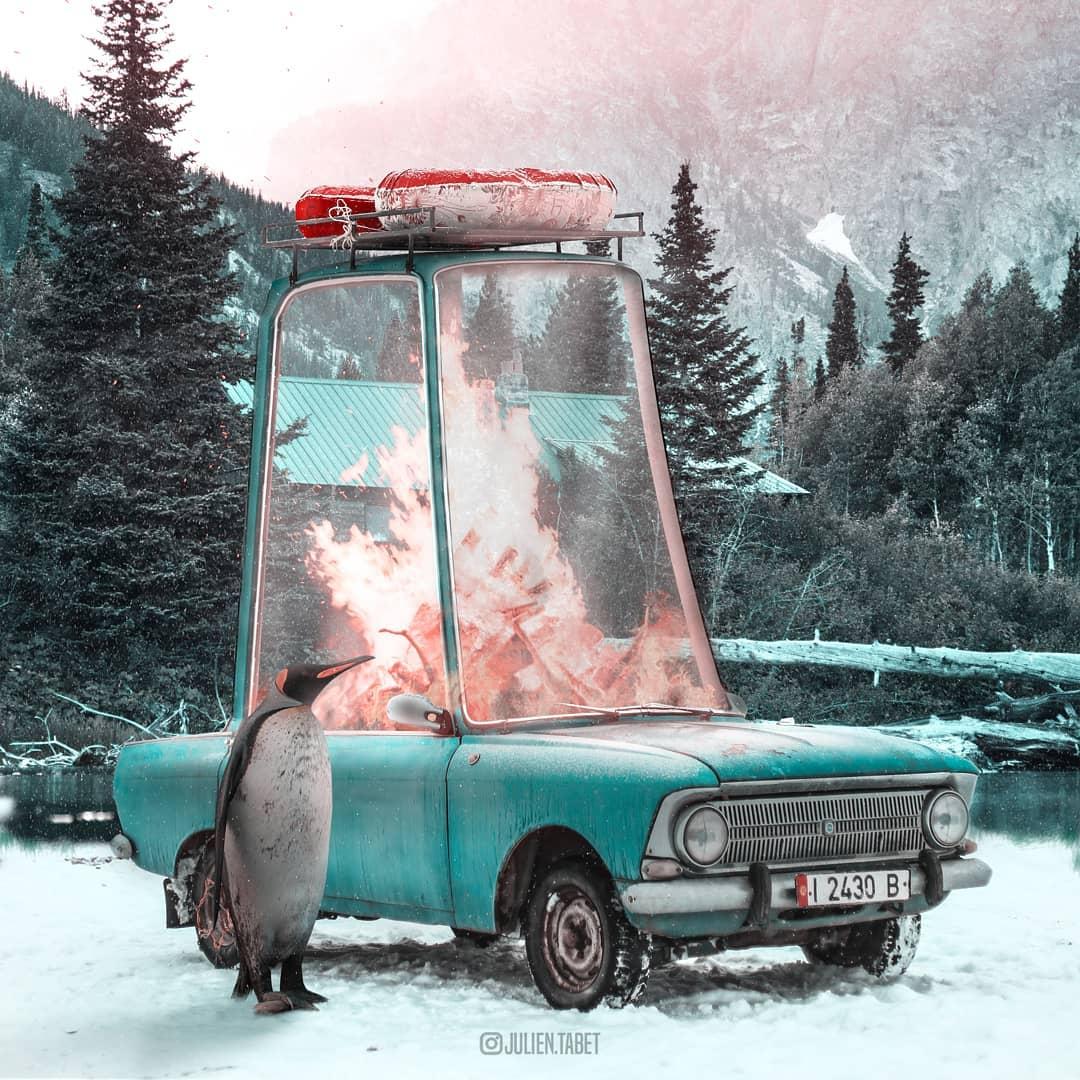 Сюрреалистический фотошоп от Жюльена Табета