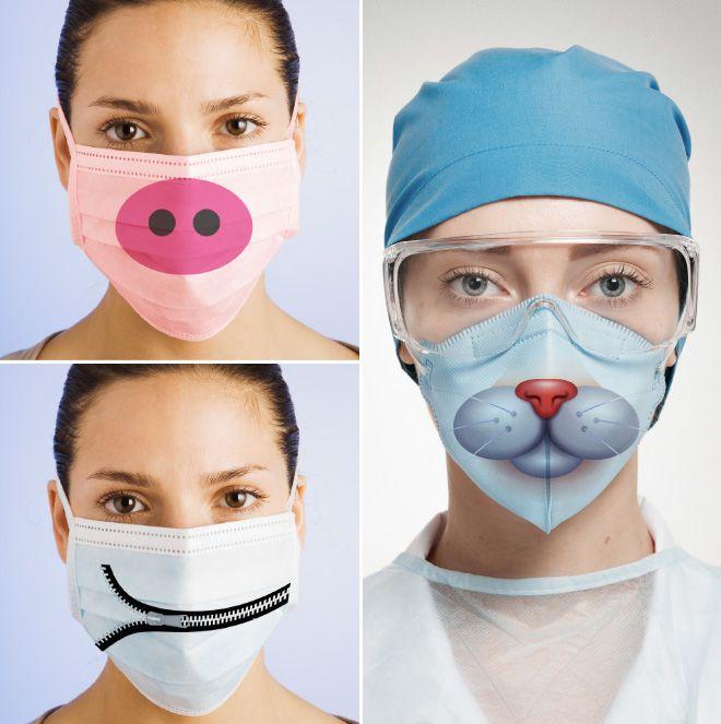 Забавные хирургические маски