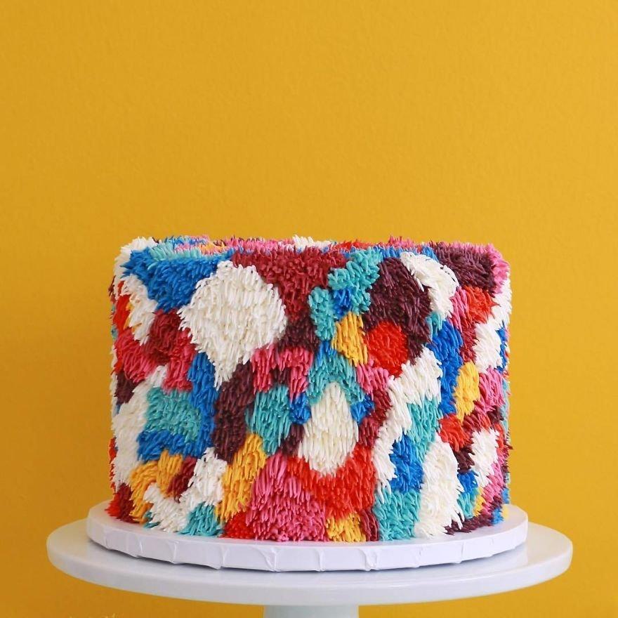 Необычные красочные торты с ворсом от Аланы Джонс-Манн
