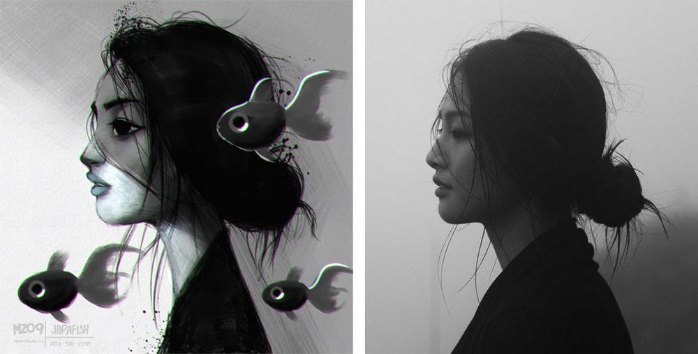 Художник превращает случайных людей в мульперсонажей