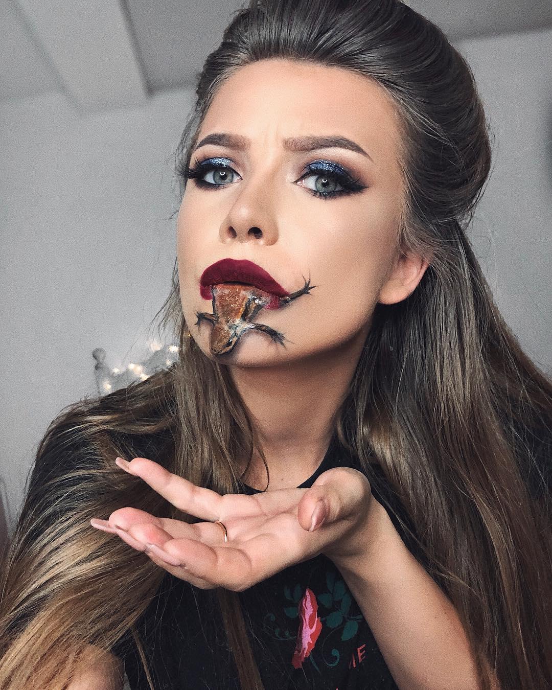 Впечатляющие иллюзии на лице визажиста-самоучки Моники Фальчик